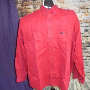 Greatland Men Red Denim Long Sleeve Shirt A06-30
